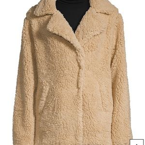 Silver jeans teddy coat spring fall fluffy